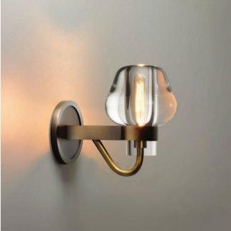 Cadhla Modern Golden Mushroom Wall Lamp