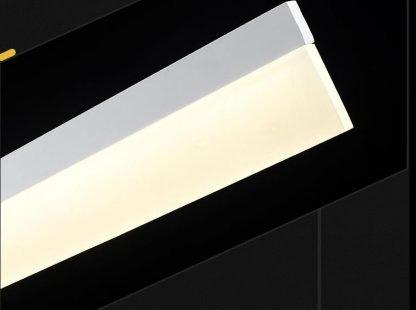 Calixte Contemporary Ultra Thin Rectangular Modern Kitchen Black Pendant Light