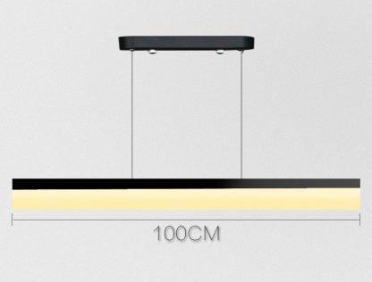 Calixte Contemporary Ultra Thin Rectangular Pendant Light dining room light