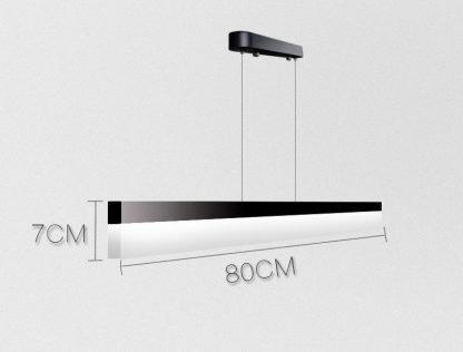 Calixte Contemporary Ultra Thin Rectangular Pendant Light living room light