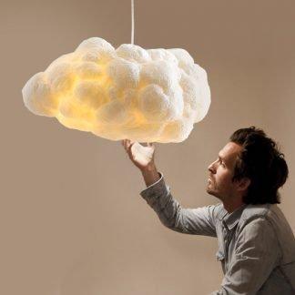 Eachthighearn Modern White Cloud Shaped Pendant Light