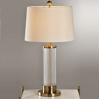 Edda Elegant Classical Drum Shaped Table Lamp