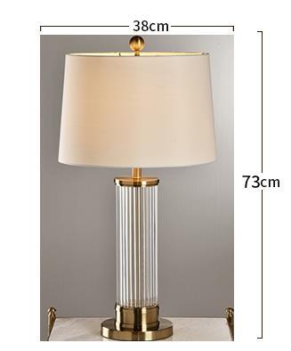Edda Elegant Classical Drum Shaped Table Lamp Bedroom lights