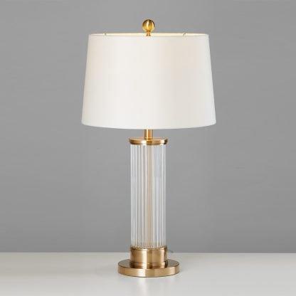 Edda Elegant Classical Drum Shaped Table Lamp Office lights