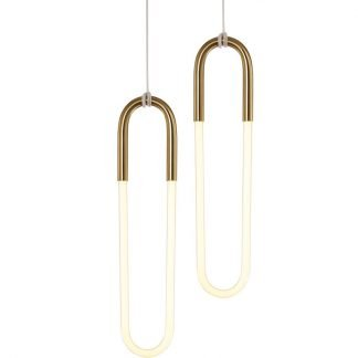 Eiddwen Modern Minimalist Elliptical Shaped Pendant Light