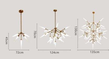Fadyenka Modular Fireflies Sputnik Modern Linear Chic Pendant Light