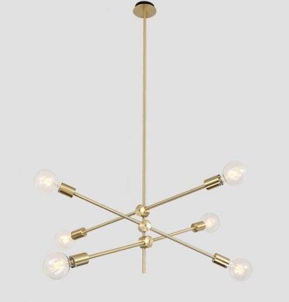 Kacey Gold Industrial Sputnik Modern Luxury Molecular Pendant Lighting