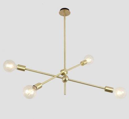 Kacey Gold Industrial Sputnik Modern Molecular Pendant Lighting
