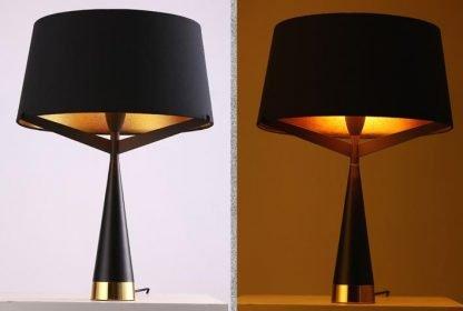 Kadmus Classic Designed Drum Shaped Black Bedroom Table Lamp