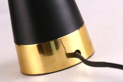 Kadmus Classic Designed Drum Shaped Black Foyer Table Lamp