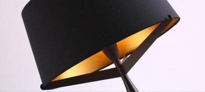 Kadmus Classic Designed Drum Shaped Black Table Lamp