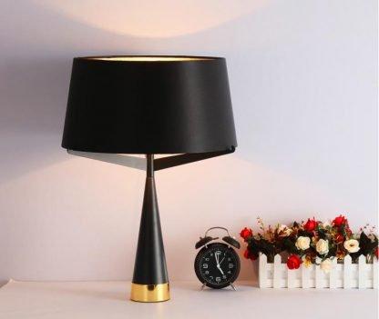 Kadmus Classic Designed Drum Shaped Elegant Dining Room Black Table Lamp