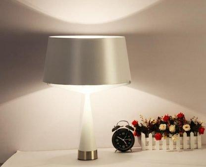 Kadmus Classic Designed Drum Shaped Elegant Dining Room White Table Lamp