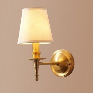 Kassadi Minimalist Classic Copper Bell Shade Wall Lamp