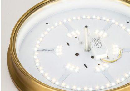 Laec Contemporary Round Gold Luxury Drum Shape Ceiling Mount