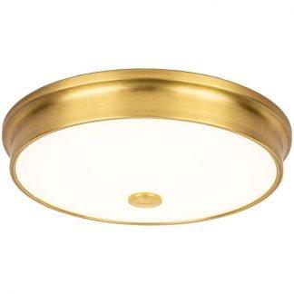Laec Contemporary Round Gold Drum Shape Ceiling Mount