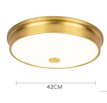 Laec Contemporary Round Gold Drum Shape Large Ceiling Mount