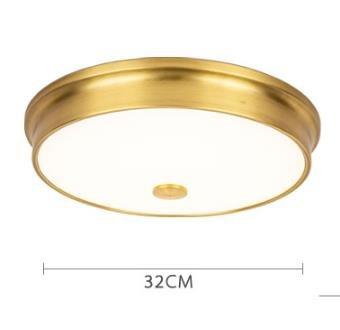 Laec Contemporary Round Gold Drum Shape Medium Ceiling Mount