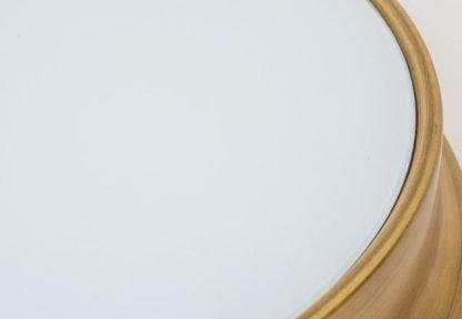 Laec Contemporary Round Gold Drum Shape Minimalist Design Ceiling Mount