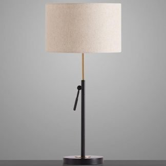 Lagmann Graceful Sophisticated Drum Shaped Table Lamp