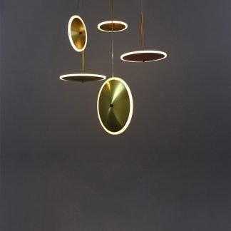Lendell Spherical Creative Circular Ring Shaped Pendant Light