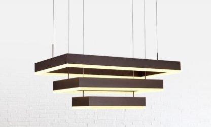 Nalren Modern Geometric Gorgeous Rectangular Bedroom Pendant Light