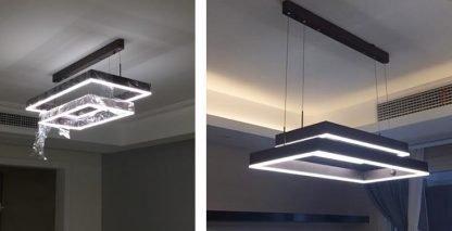 Nalren Modern Geometric Gorgeous Rectangular Living Room Light