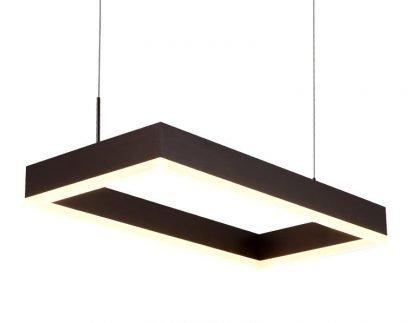 Nalren Modern Geometric Gorgeous Rectangular Livingroom Pendant Light