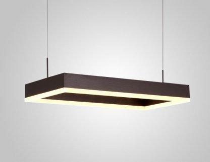 Nalren Modern Geometric Gorgeous Rectangular Pendant Light living room light