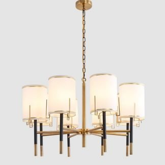 Oakden Contemporary Gold Finished Tail Chic Stunning Chandelier