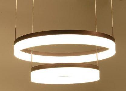 Oddfrid Contemporary Geometric Chic Design Golden Circle Pendant Light