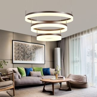 Oddfrid Contemporary Geometric Chic Golden Circle Pendant Light