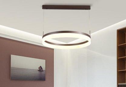 Oddfrid Contemporary Geometric Chic Golden Circle Pendant Light kids room lighting