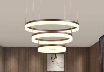 Oddfrid Contemporary Geometric Chic Golden Circle Pendant Light living room light