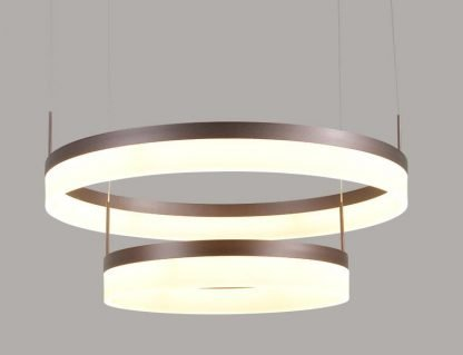 Oddfrid Contemporary Geometric Chic Golden Round Pendant Light