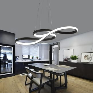 Reilly Gorgeous Contemporary Curved Lines Chic Pendant Light