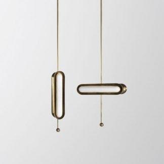 Aberfa Minimalist Industrial Slender Metal Pendant Light