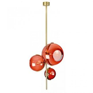 Acacia Stylish Elegant Colored Globe Pendant Light