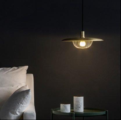 Acair Modern Farmhouse Caged Pendant Light Reading lights