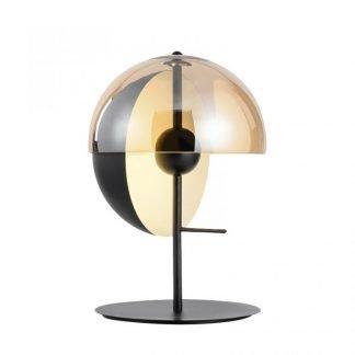 Brooklynne Geometric Semicircular Glass Table Lamp