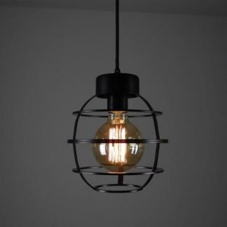 Broughton Industrial Contemporary Oval Cage pendant light