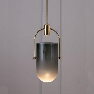 Cadwgawn Contemporary Semioval Shaped Pendant Light