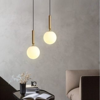 Chakwaina Minimalist Sphere Glass Pendant Light