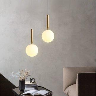 Chakwaina Minimalist Sphere Glass Pendant Light