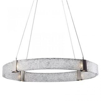 Chal Contemporary Circular Glass Ring Pendant Light