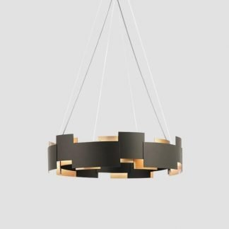 Crisdean Elegant Metal Sheets Ring Pendant Light