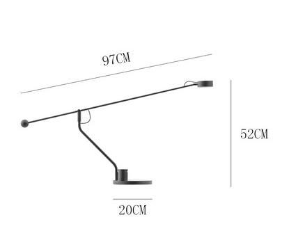 Crisiant Minimalist Adjustable Black Table Lamp Office workstation lights