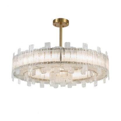 Cynere Modern Dual Ring Glass Pendant Light Dining Room lights