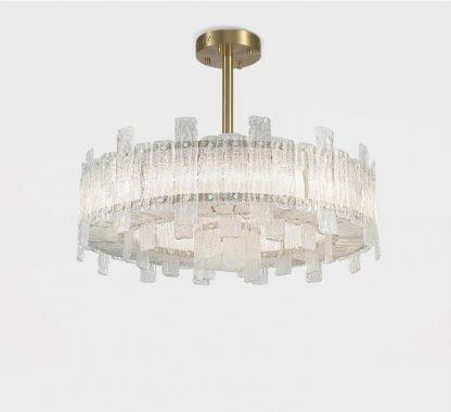 Cynere Modern Dual Ring Glass Pendant Light Restaurant lights