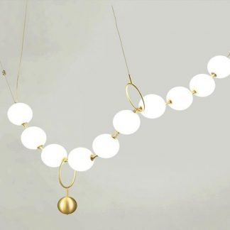 Cynerik Elegant Pearl Necklace Shaped Pendant Light